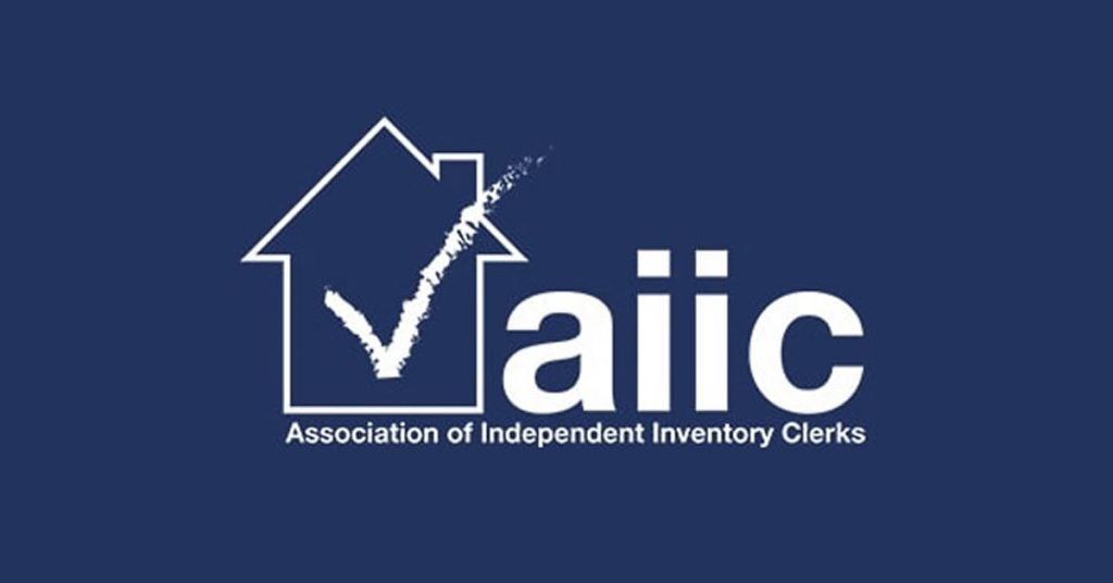 The association of independent inventory clerks AIIC logo on blue background